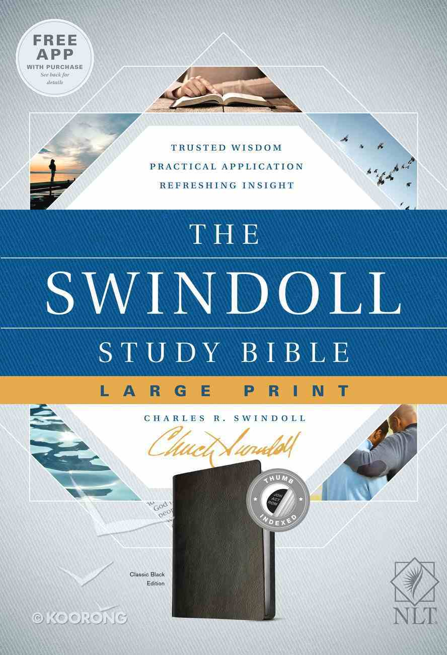 NLT Swindoll Study Bible Indexed Large Print (Black Letter Edition) Imitation Leather