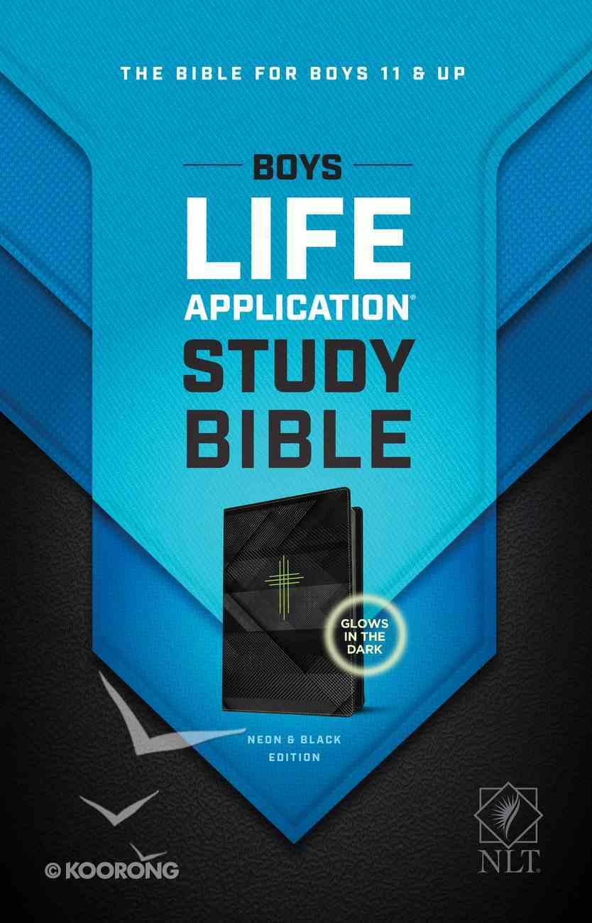 NLT Boys Life Application Study Bible Neon Black (Black Letter Edition) Imitation Leather