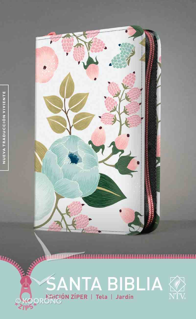 Ntv Santa Biblia Edicion Ziper Jardin (Black Letter Edition) Fabric