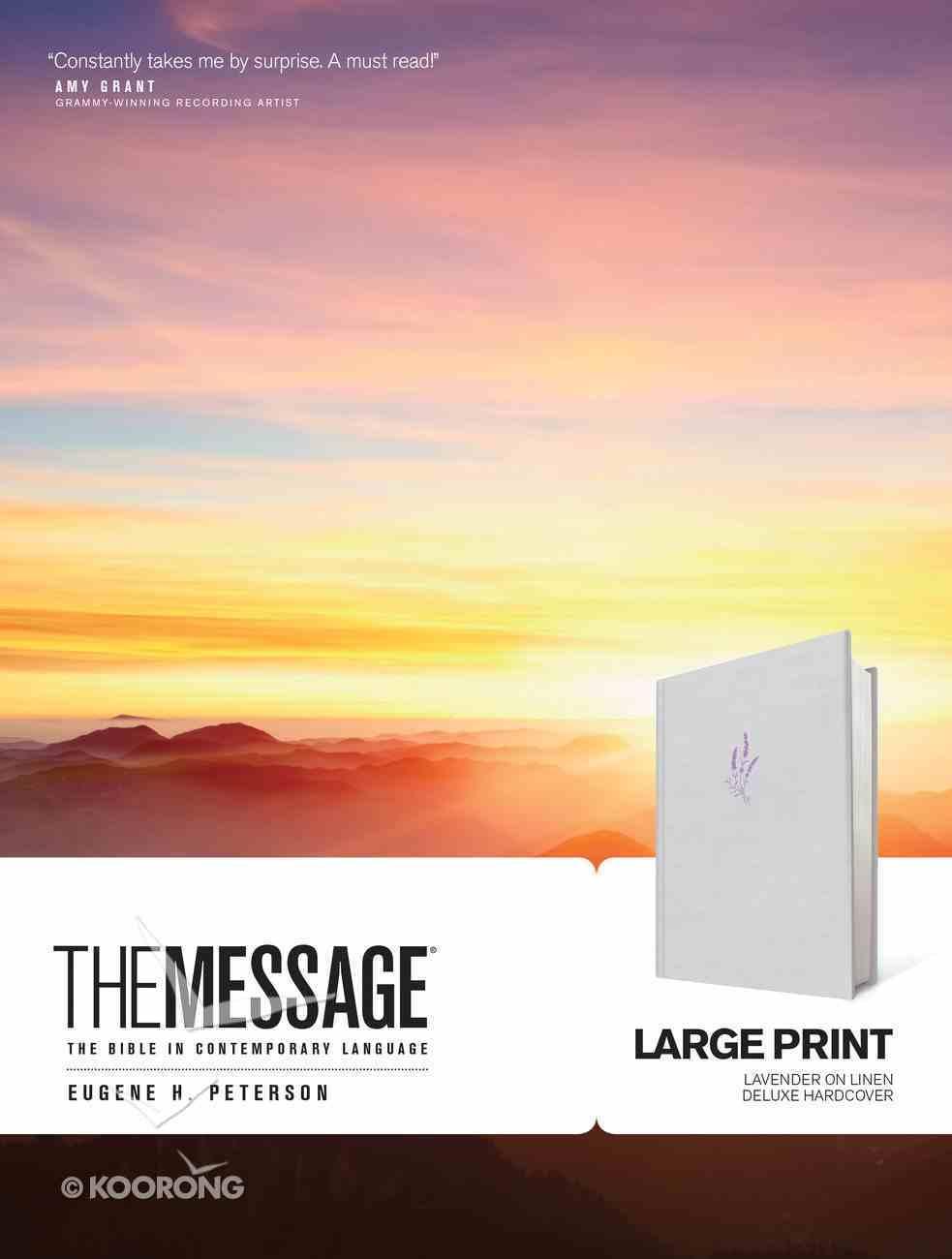 Message Large Print Lavender on Linen (Black Letter Edition) Hardback