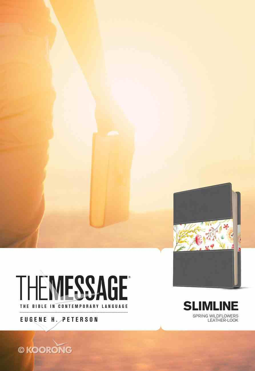 Message Slimline Bible Spring Wildflowers (Black Letter Edition) Imitation Leather