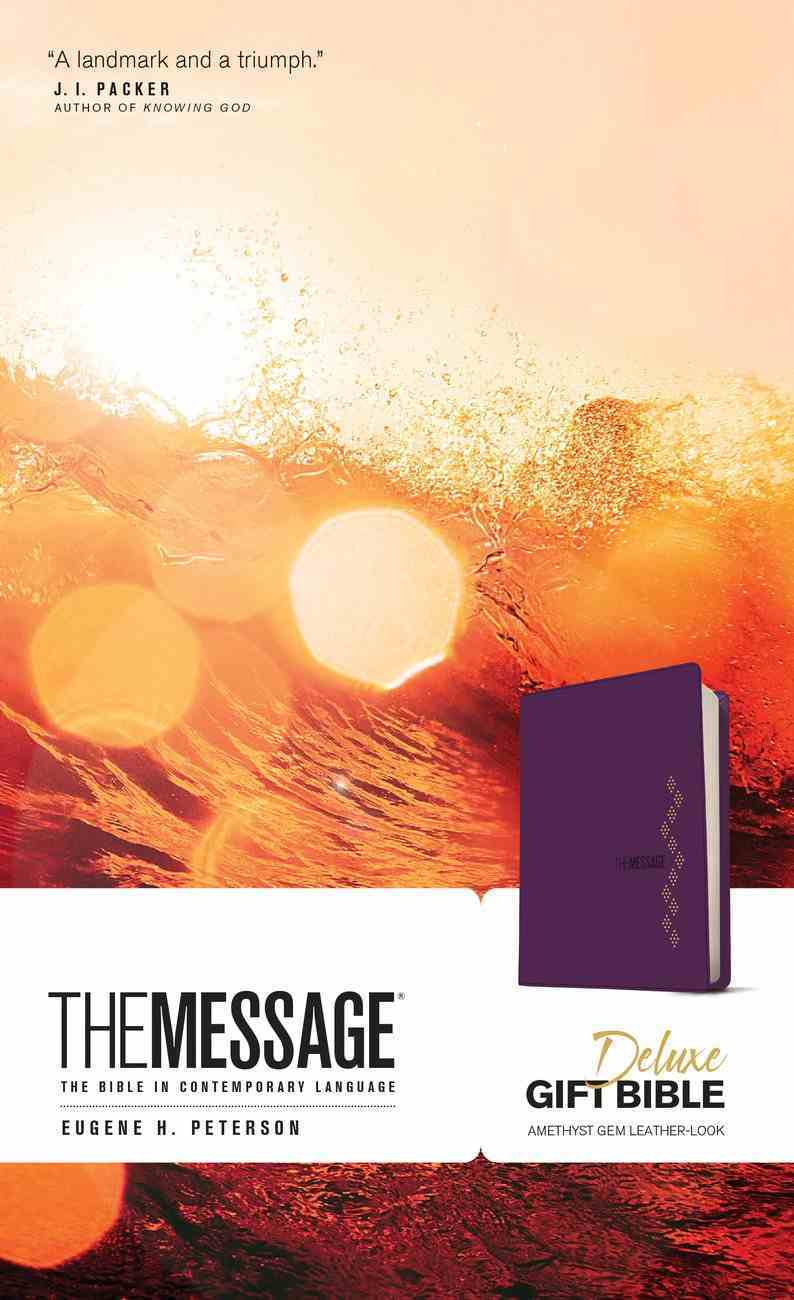 Message Deluxe Gift Bible Amethyst Gem (Black Letter Edition) Imitation Leather