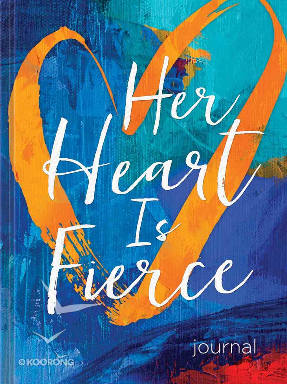 Signature Journal: Her Heart is Fierce, Blue/Orange Heart Hardback