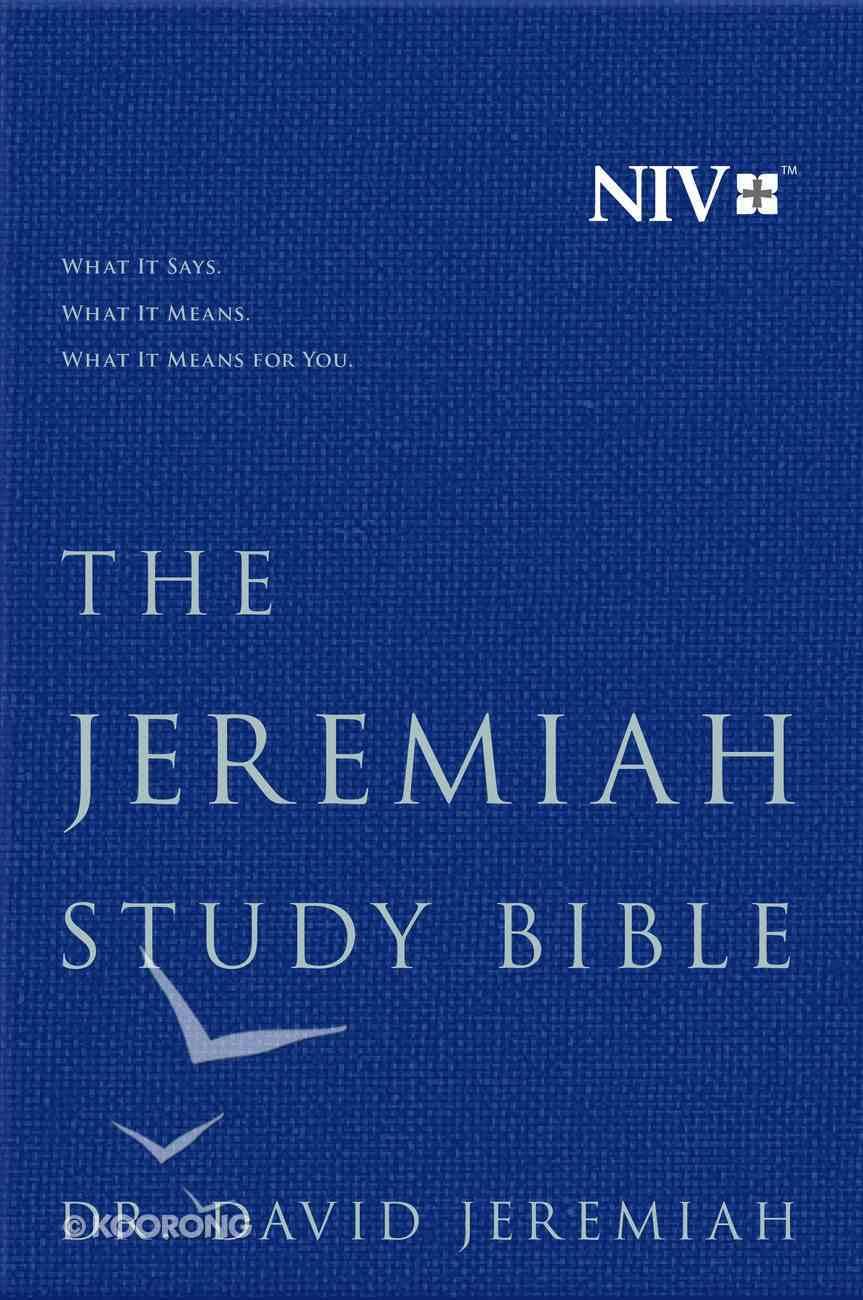 NIV Jeremiah Study Bible Navy Fabric Over Hardback