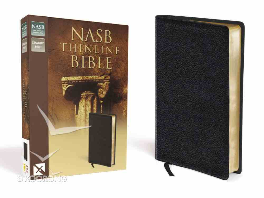 NASB Thinline Text Edition Black (Red Letter Edition) Bonded Leather
