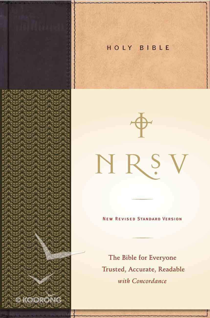 NRSV Standard Bible (Tan/black) Hardback