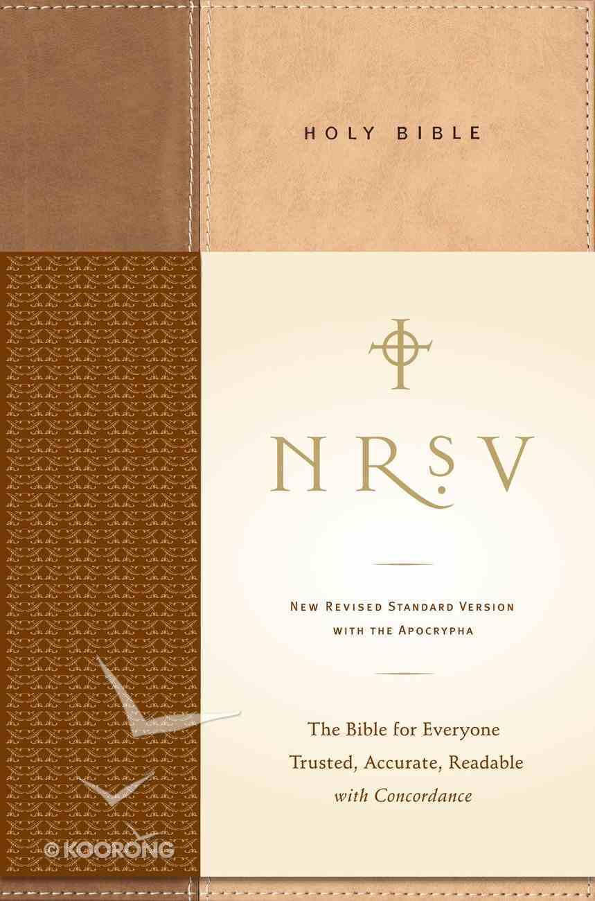 NRSV Standard Bible With Apocrypha Tan/Brown Imitation Leather