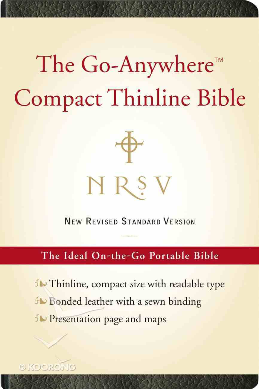 NRSV Go-Anywhere Compact Thinline Bible Black Bonded Leather