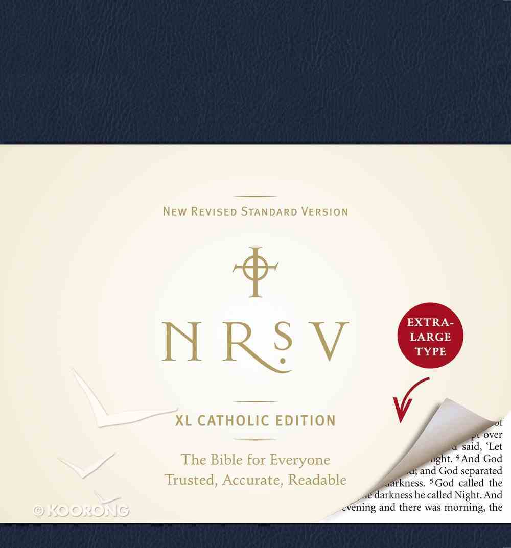 NRSV Xl Bible Catholic Edition Navy Hardback