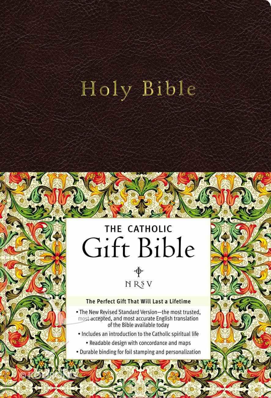 NRSV Catholic Gift Bible Black Anglicized Imitation Leather