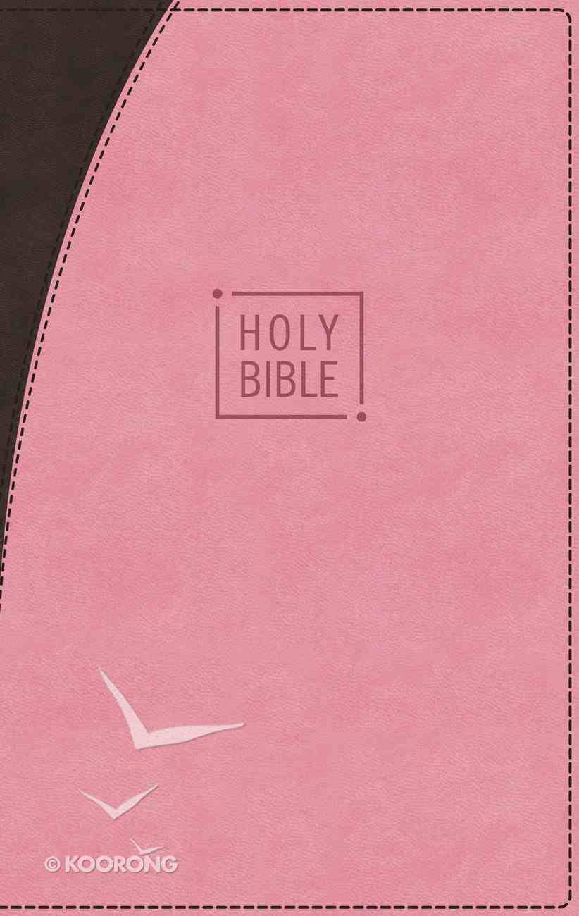 NIV Premium Gift Bible Pink/Brown Indexed (Red Letter Edition) Premium Imitation Leather