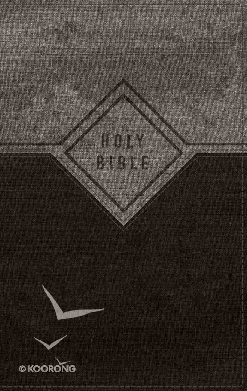 NIV Premium Gift Bible Black/Gray Indexed (Red Letter Edition) Premium Imitation Leather