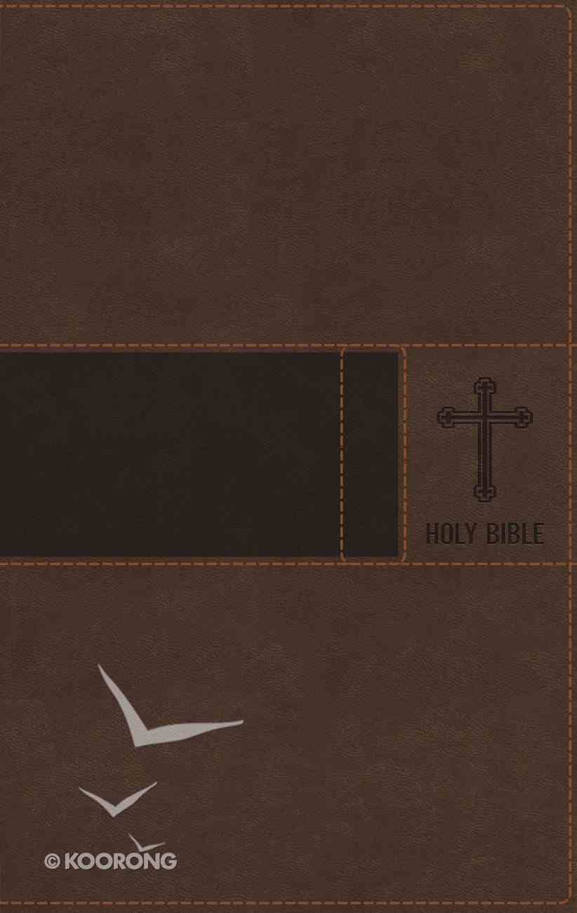 NIV Premium Gift Bible Brown Indexed (Red Letter Edition) Premium Imitation Leather