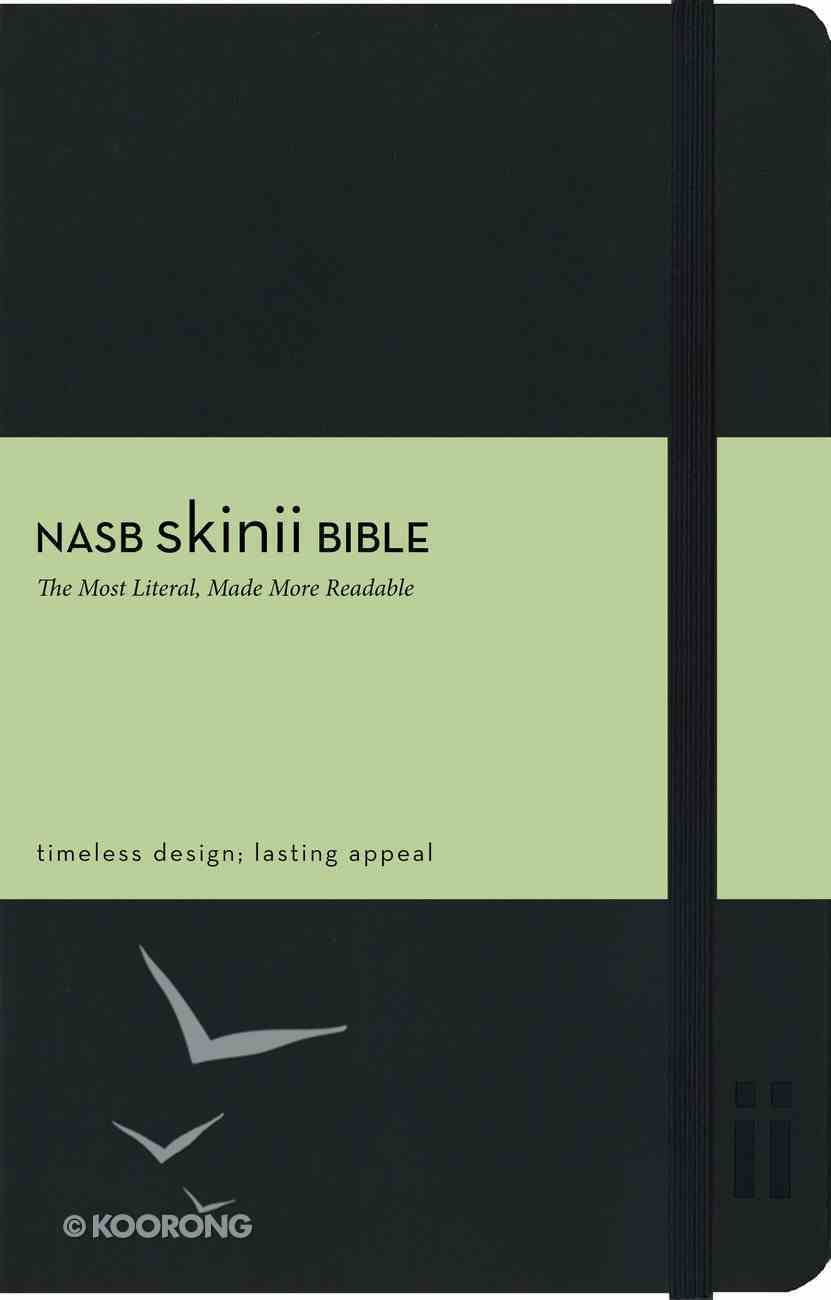 NASB Skinii Black Elastic Closure Bible (Red Letter Edition) Imitation Leather