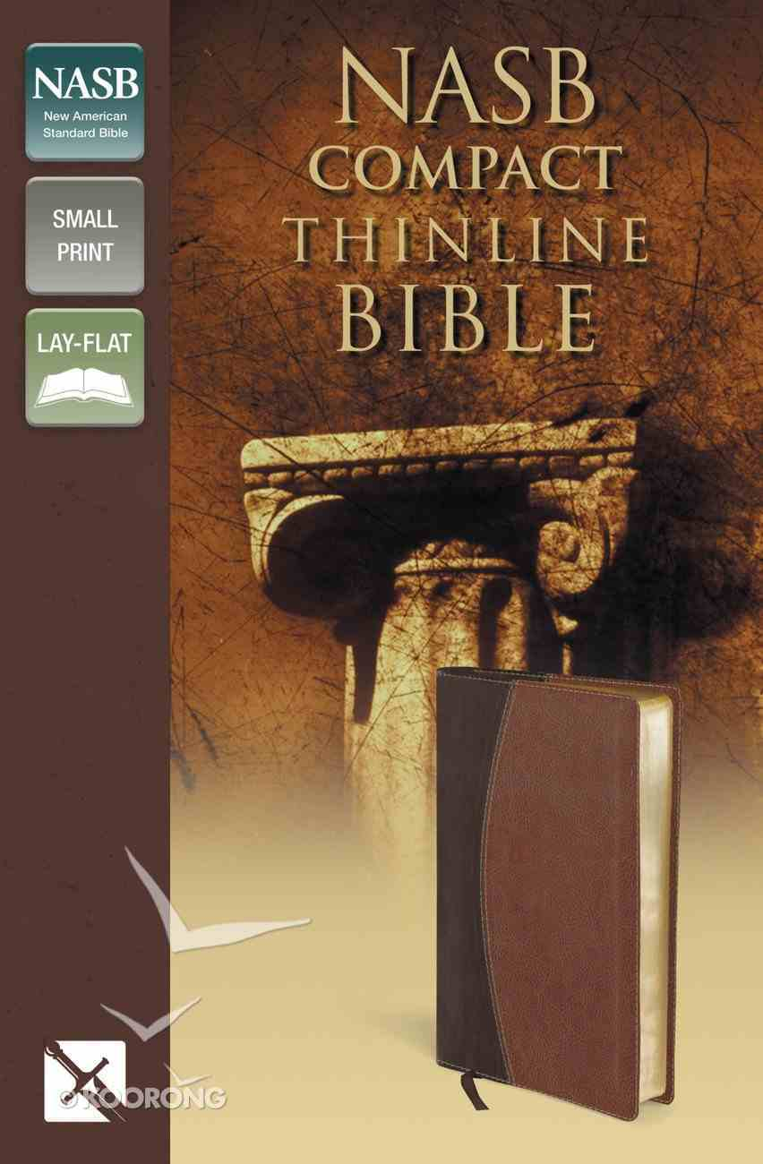 NASB Compact Thinline Bible Mahogany/Chocolate (Red Letter Edition) Premium Imitation Leather