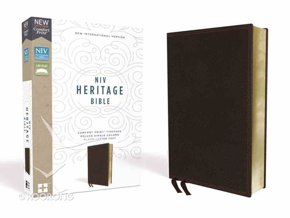 NIV Heritage Bible Deluxe Brown (Black Letter Edition) Premium Imitation Leather