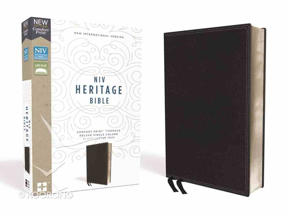 NIV Heritage Bible Deluxe Black (Black Letter Edition) Premium Imitation Leather