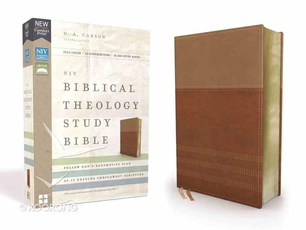 NIV Biblical Theology Study Bible Tan/Brown (Black Letter Edition) Premium Imitation Leather