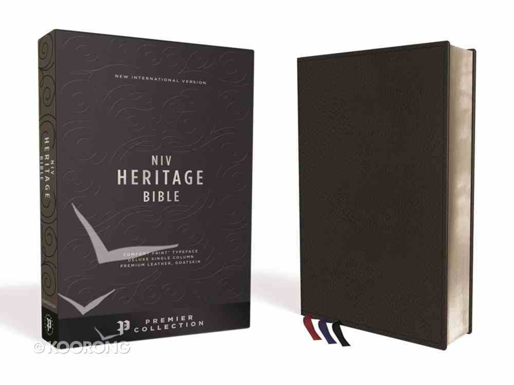 NIV Heritage Bible Deluxe Black Sterling Edition (Black Letter Edition) Genuine Leather