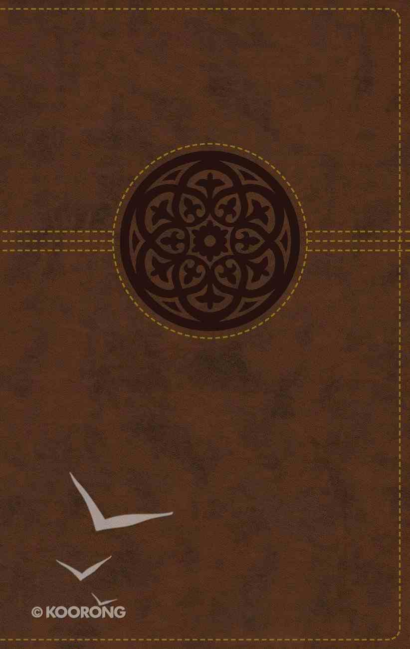 NRSV Thinline Reference Bible Large Print Brown Indexed Premium Imitation Leather