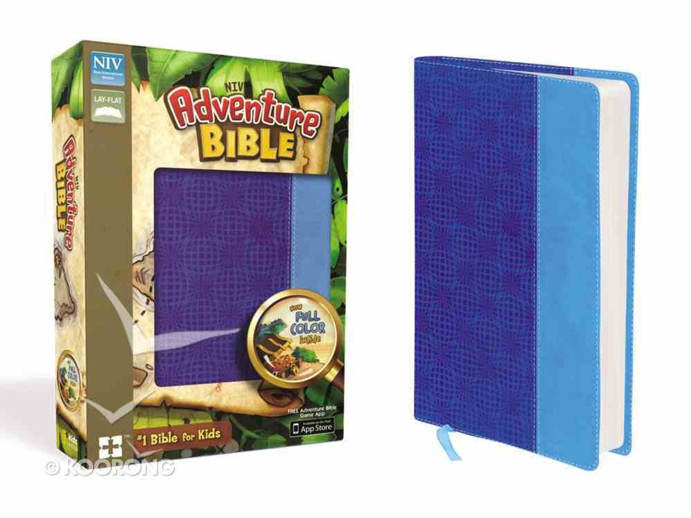 NIV Adventure Bible Electric Blue Ocean Blue (Black Letter Edition) Premium Imitation Leather