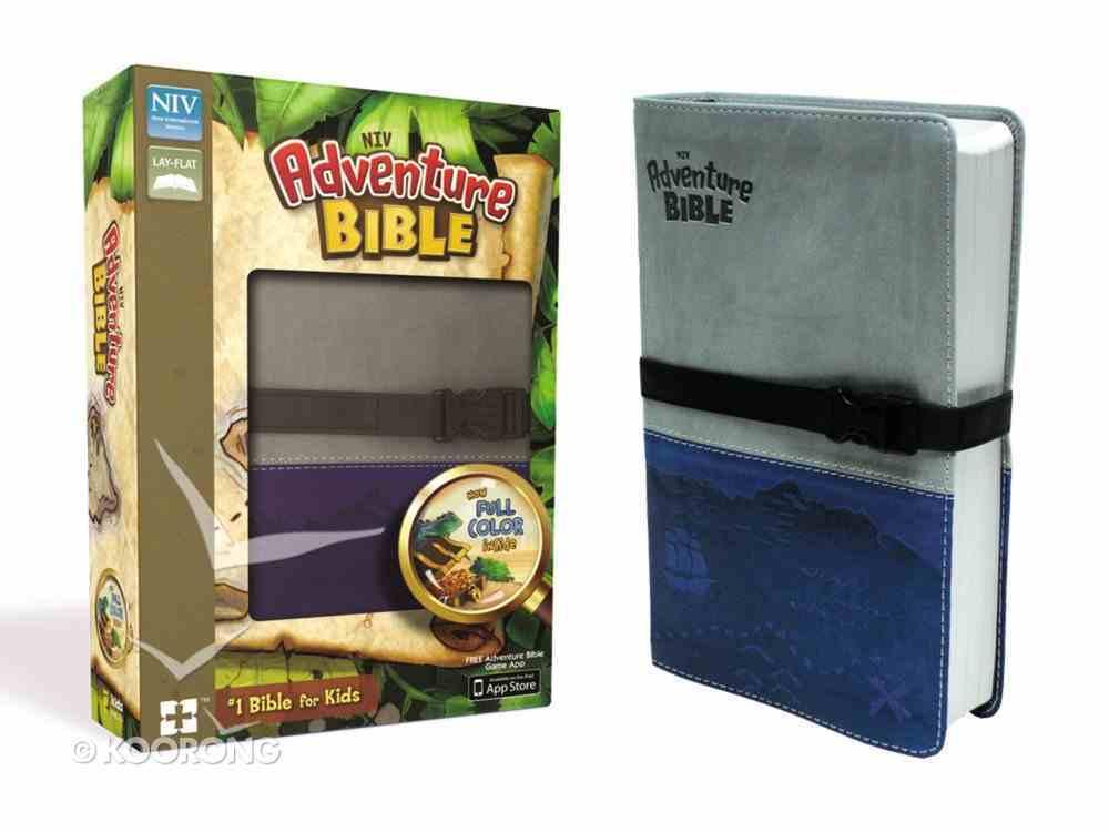 NIV Adventure Bible Gray Blue Clip Closure (Black Letter Edition) Premium Imitation Leather