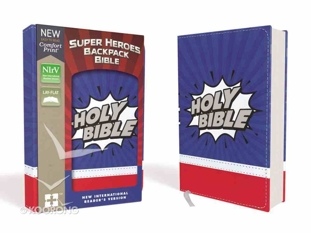 NIRV Super Heroes Backpack Bible (Red Letter Edition) Premium Imitation Leather