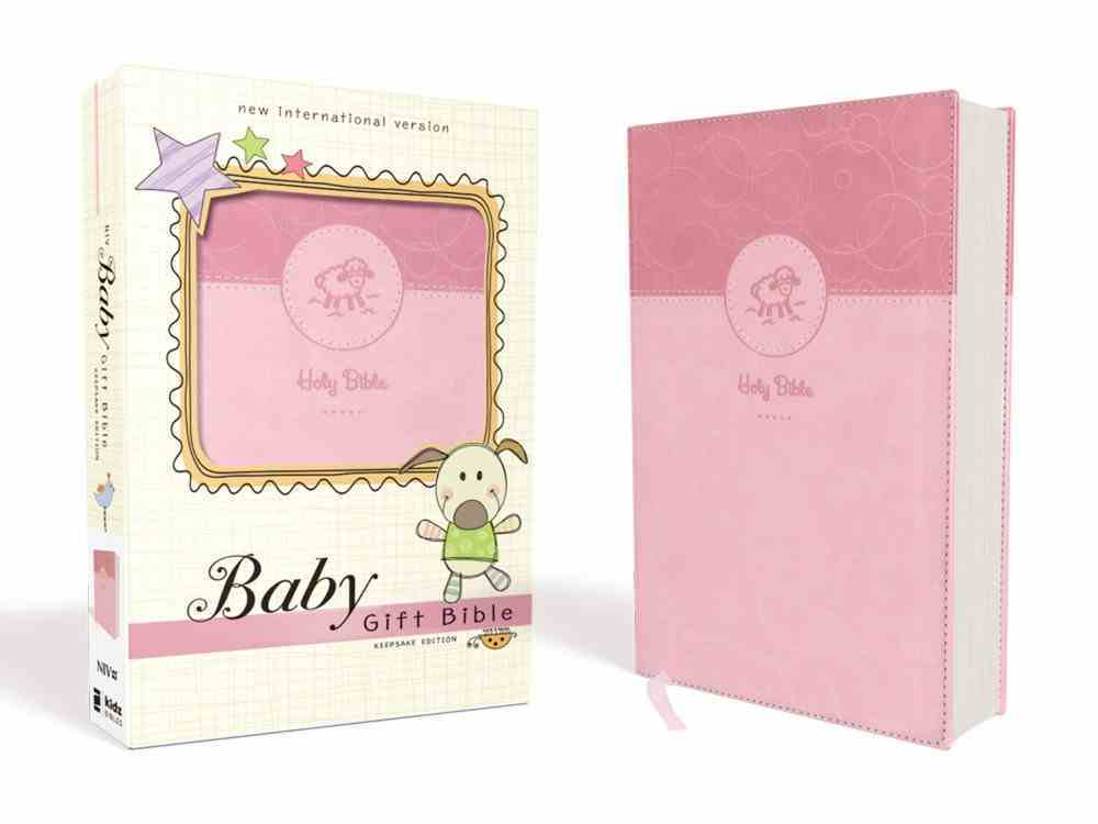 NIV Baby Gift Bible Pink (Red Letter Edition) Premium Imitation Leather