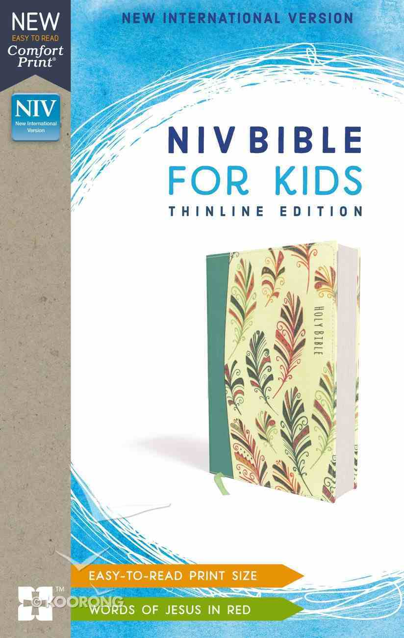 NIV Bible For Kids Thinline Teal (Red Letter Edition) Paperback