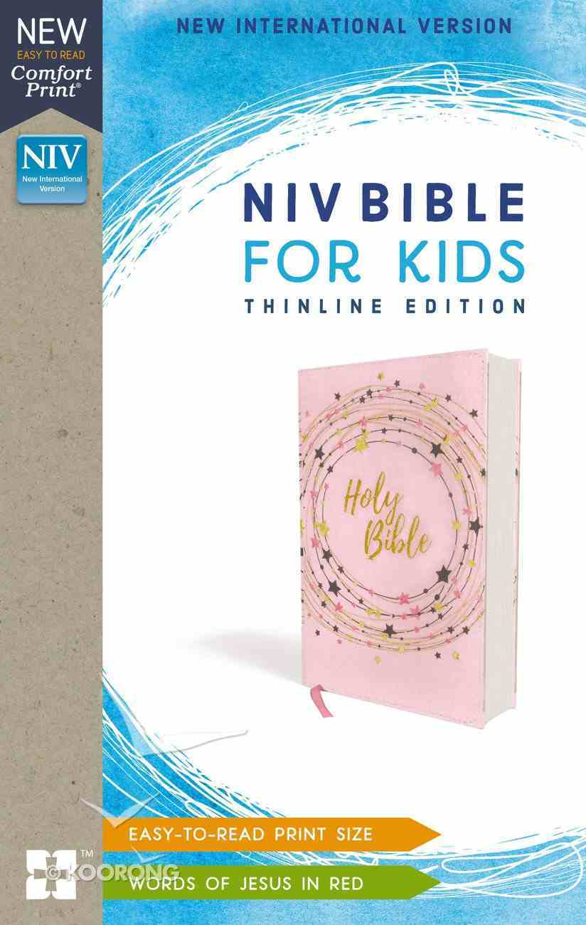 NIV Bible For Kids Thinline Pink/Gold (Red Letter Edition) Paperback