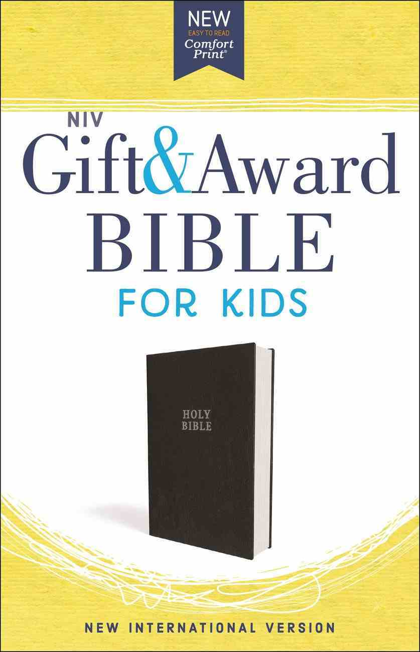NIV Gift and Award Bible For Kids Black (Red Letter Edition) Imitation Leather