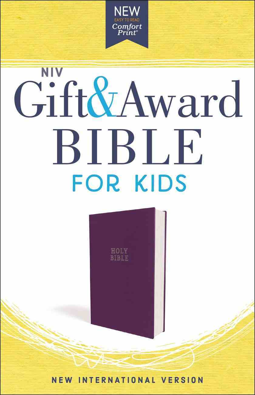 NIV Gift and Award Bible For Kids Purple (Red Letter Edition) Imitation Leather