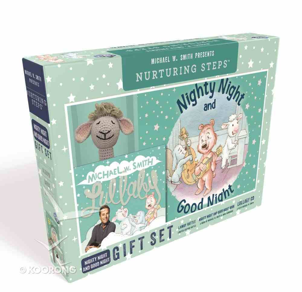 Nighty Night and Good Night Gift Set (Book, CD & Plush Rattle Shaped Lamby) (Nurturing Steps Series) Pack