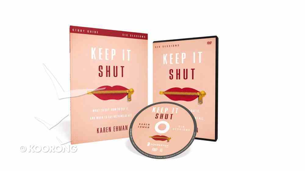 Keep It Shut (Study Guide With Dvd) Pack