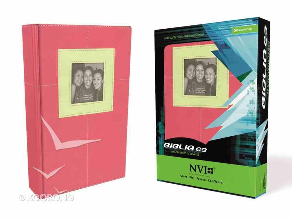 Nvi Biblia G3 De Crecimiento Juvenil Pink/Green (G3 Bible For Youth Development) Imitation Leather