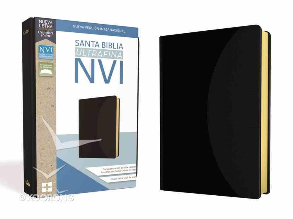 Nvi Santa Biblia Ultrafina Negra (Red Letter Edition) Premium Imitation Leather