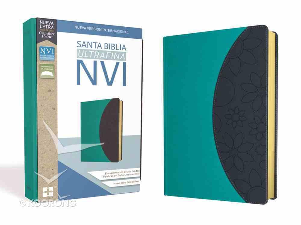 Nvi Santa Biblia Ultrafina Lila/Gris (Red Letter Edition) Premium Imitation Leather