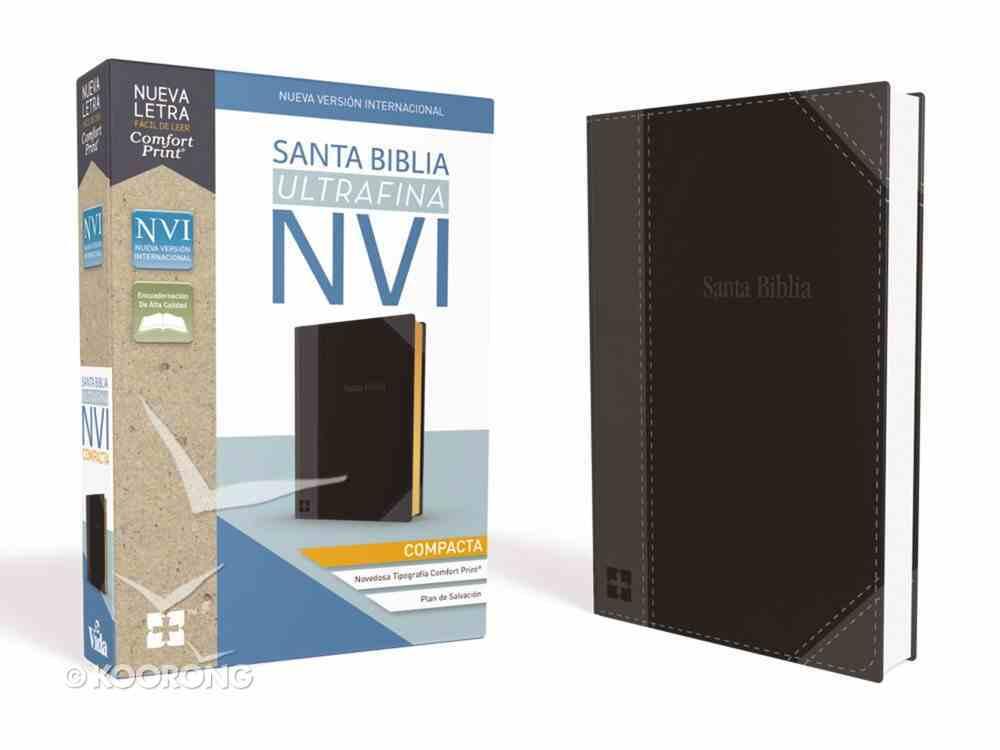Nvi Santa Biblia Ultrafina Compacta Negra (Red Letter Edition) Imitation Leather