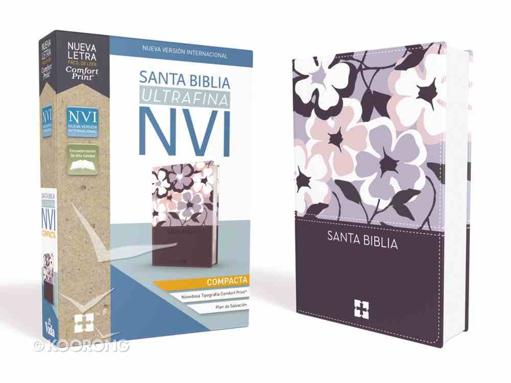 Nvi Santa Biblia Ultrafina Compacta Flores (Red Letter Edition) Imitation Leather