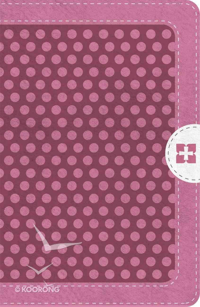 Nvi Santa Biblia Ultrafina Compacta Rosa C/Cierre (Red Letter Edition) Imitation Leather