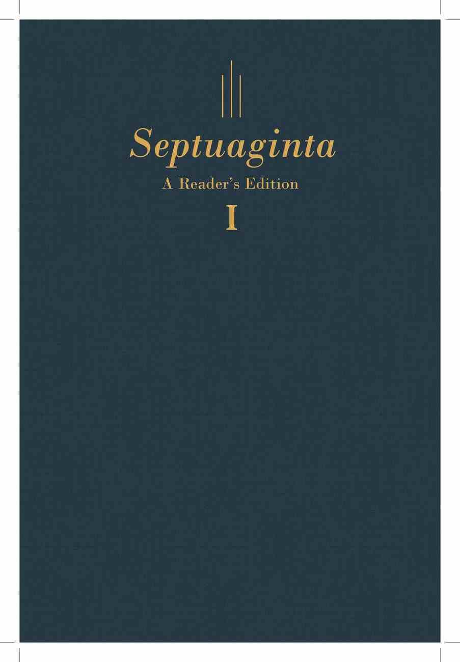 Septuaginta: A Reader's Edition Blue (2 Vol Set) Hardback
