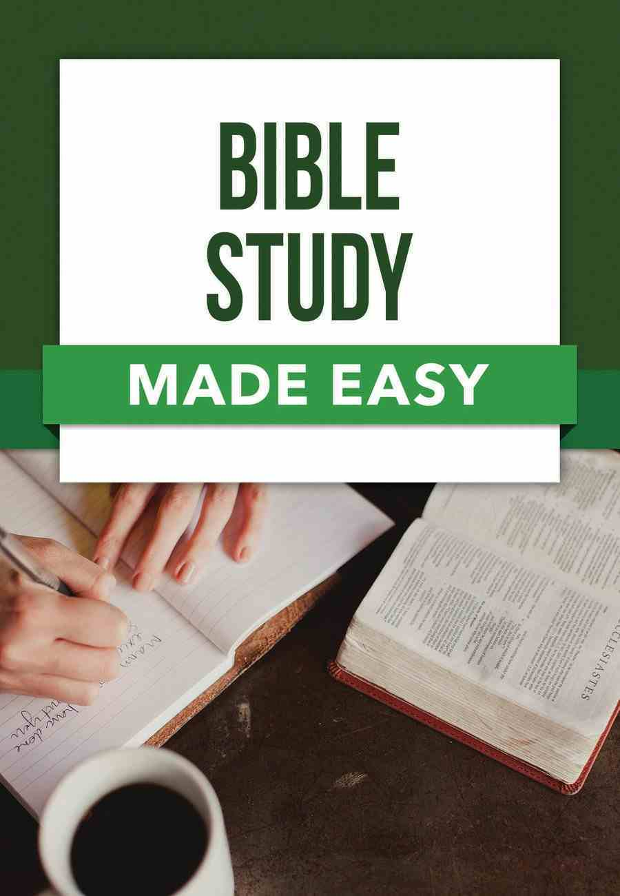 Bible Study Made Easy (Bible Made Easy Series) Paperback
