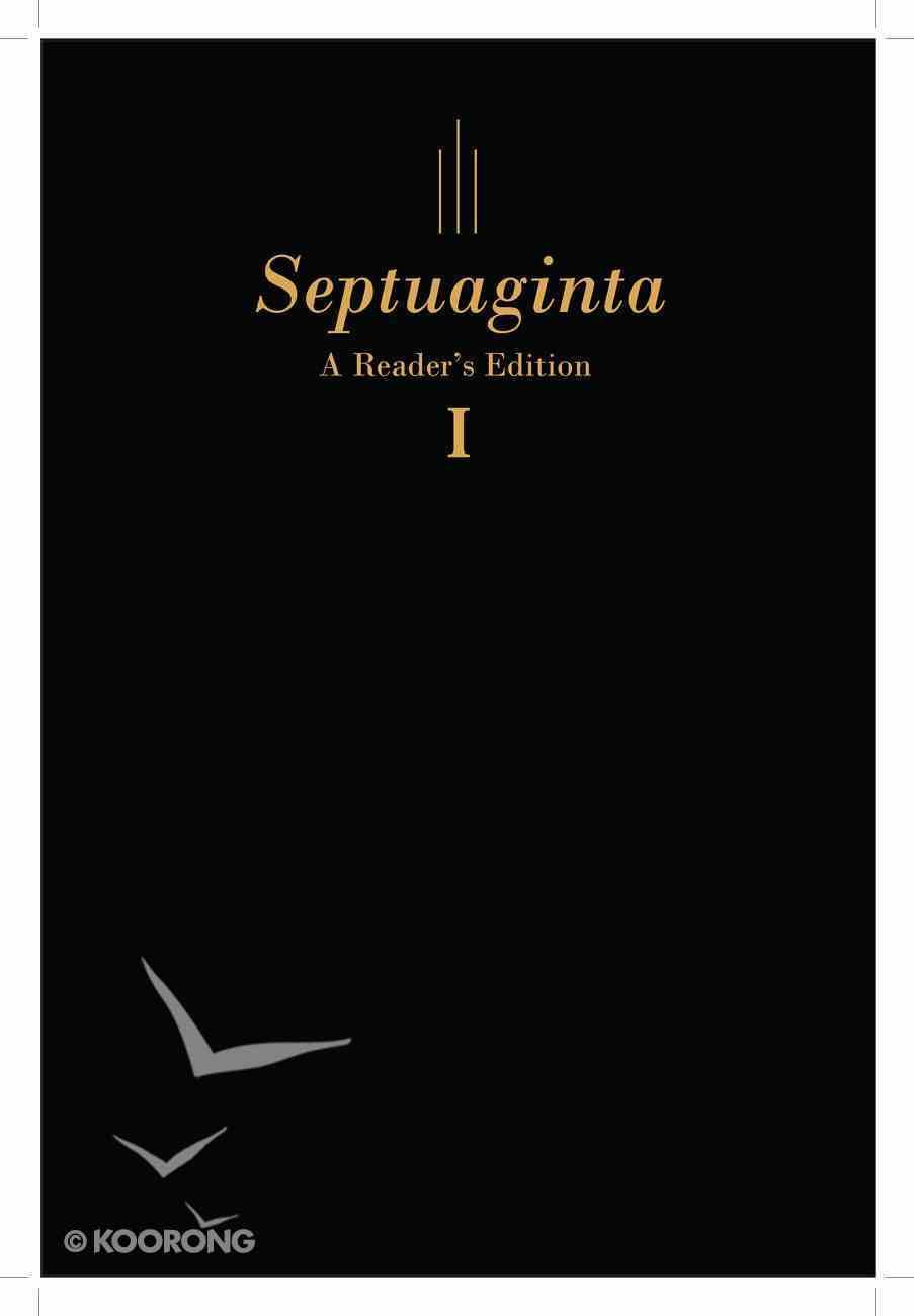 Septuaginta: A Reader's Editon Black (2 Vol Set) Imitation Leather