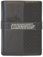 Deluxe Journal: Ride in Triumph Diamond Plate (Black) Imitation Leather