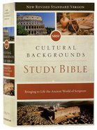 NRSV Cultural Backgrounds Study Bible Hardback