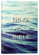 NKJV Value Outreach Bible Blue Ocean Scenic Paperback