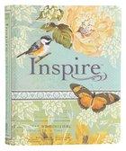 NLT Inspire Creative Journaling Bible Blue/Cream (Black Letter Edition) Imitation Leather