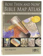 Bible Map Atlas With Biblical Backgrounds (Then And Now Series) Chart/card