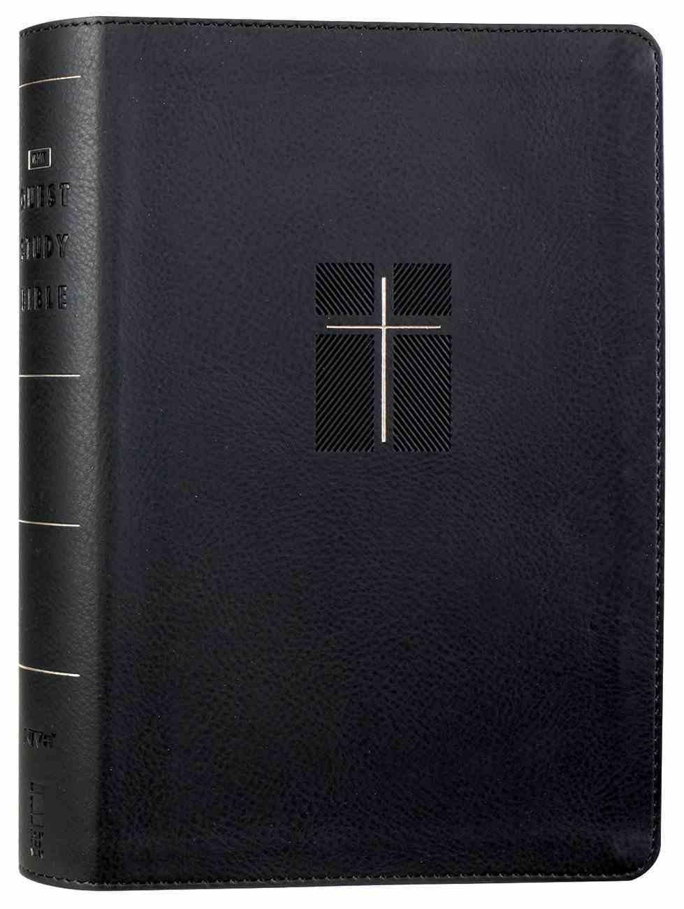 NIV Quest Study Bible Black Premium Imitation Leather