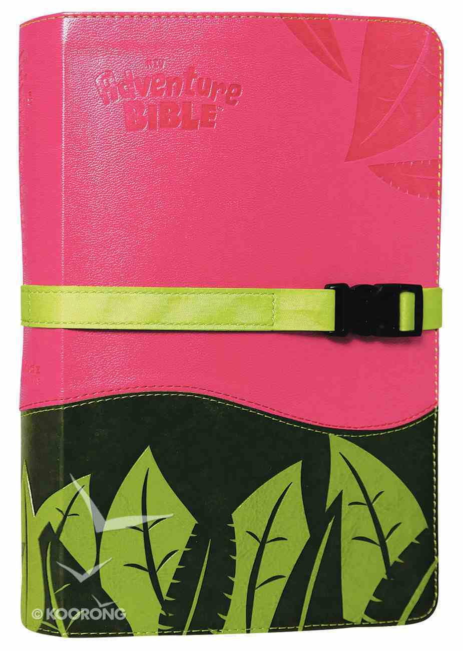 NIV Adventure Bible Pink/Green Clip Closure (Black Letter Edition) Premium Imitation Leather